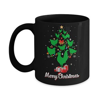 Funny Chicken Merry Christmas Tree Ugly Sweater Mug