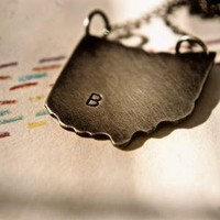 Hello Ohio  A Personalized or not State Pendant by BrookeArin