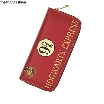 7 colors Harry Potter Letter Zip Around Wallet pu Long Women Wallets Designer Brand Purse Lady Party Handbag Female cion purse