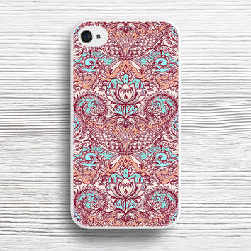 Natural Rhythm - a hand drawn pattern in peach, mint & aqua case iPhone 4s 5s 5c 6s 6 Plus Cases, Samsung Case, iPod 4 5 6 case, HTC case, Sony Xperia case, LG case, Nexus case, iPad case