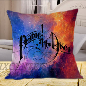 Panic At The Disco Logo Galaxy on Square Pillow Cover