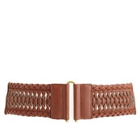WIDE BRAIDED STRETCH BELT