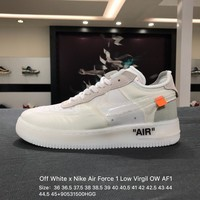 Off White x Nike Air Force 1 Low Virgil OW AF1 White Skateboarding Shoes - AO4606-100