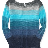Sheer Striped Knit Sweater - Aeropostale
