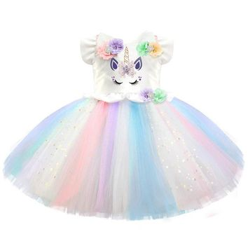 Girls Fancy Little Girl Unicorn Dresses