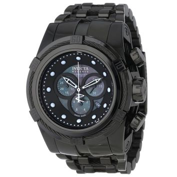 Invicta 12750 Mens Bolt Zeus Reserve Black Bezel Black IP Steel Bracelet Watch