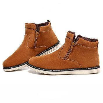 Men's Suede Zipper Ankle Boots In 3 Colors