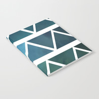 Blue Modern Triangle Art Notebook - Blank Book - Lined - Unlined - Made to Order