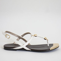 Lovely Braided Sandal - White