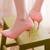 Classic Simple Elegent Fashion High Heels Pumps With Thin Heels