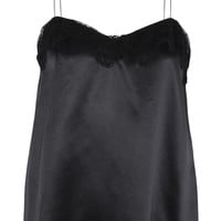 Lanvin - Lace-trimmed silk-satin camisole