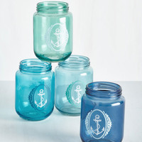 Nautical Maritime of Our Lives Glass Set by ModCloth
