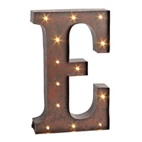 Letter ''e'' LED Lighted Wall Decor (Brown)