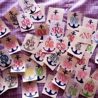 4 Anchor with Monogram by PalmettoMonograms on Etsy