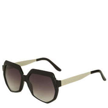 Portia Portugal Square Sunglasses - Black