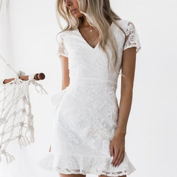 Evie Dress (White)