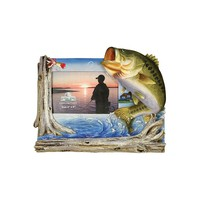 River's Edge Bass Fishing Photo Frame