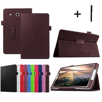 PU Leather Cover For Samsung Galaxy Tab E  T560/T561 9.6inch Tablet