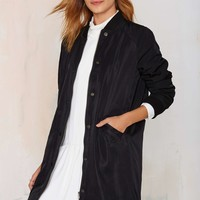 Long Time Midi Bomber Jacket