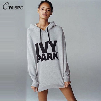 Causal IVY PARK Sweatshirt Women Long Sleeve Hoodies Pullovers Beyonce Style Letter Printed Shirts Tops QA1242