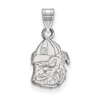 925 Sterling Silver University of Georgia Bulldogs Charm Pendant - Small