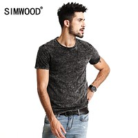 New Summer T Shirts Men Vintage Pure Cotton O neck Slim Fit Clothing