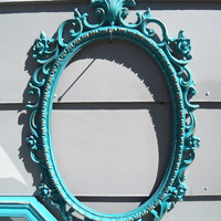 Shabby Chic Frames, Turquoise Wedding Frames, Vintage Frames, Housewares and Shabby Home Decor,  Wall Gallery Frames