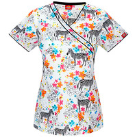 Xtreme Stretch by Dickies Women's Mock Wrap Print Scrub Top