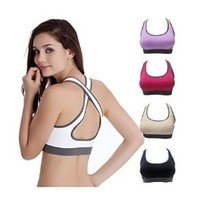 Buy Home Women's Padded Top Athletic Vest Gym Fitness Yoga Sports Wire Free Stretch Bra