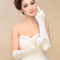 New Arrival Fashion long design Bridal Gloves Wedding Gloves Dress long wedding accessories Paragraph Mitts