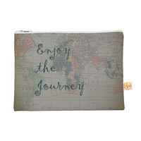 "Catherine Holcombe ""Journey"" World Map Everything Bag"