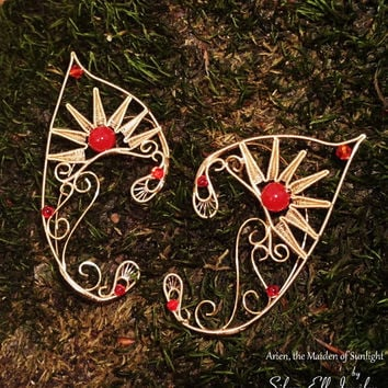 Arien Elf Ears,LOTR Elf Ears, Elf Earrings, Fantasy Earrings, no piercing earrings, wire ear cuff, elf ear wrap, Cosplay jewelry