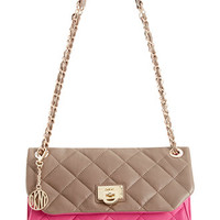 DKNY Gansevoort Quilted Nappa Leather Envelope Clutch