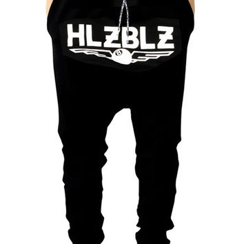 The All About It Dropcrotch Sweatpants in Black