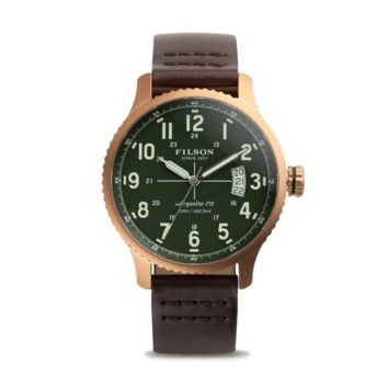 Filson Mackinaw Field Watch Matte Brass
