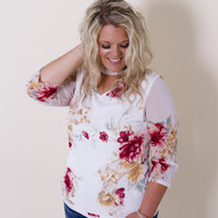 Floral Finesse-Plus Size