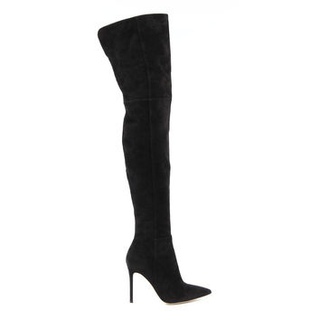Gianvito Rossi Womens High Boot 85790 CAMOSCIO BLACK