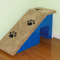 """18"""" Tall Dog Ramp, Hand Made, Custom Built, Pet Steps, Dog Stairs. Made in the USA!"""