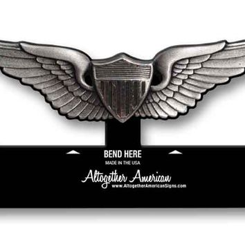 Aviator Wings Army Table Top Sign