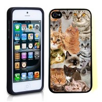 iPhone 5 5S Case ThinShell TPU Case Protective iPhone 5 5S Case Shawnex The Cat Collage Cats