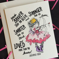 Braver Stronger Smarter Loved Princess Card