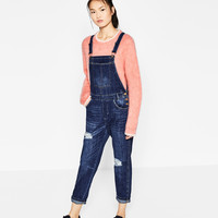 SLOUCHY RIPPED DUNGAREES DETAILS