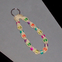 25% OFF Item of The Week - Bright & Cheery Kandi Bead Hemp Keychain - Any Color Combinatrion Available