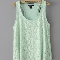 Simple green lace vest