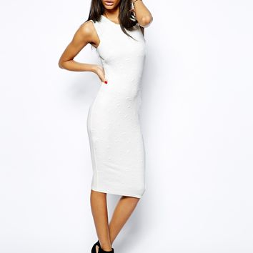 Dress With Mesh Inserts