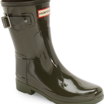 Hunter 'Refined Short' Gloss Rain Boot (Women) | Nordstrom