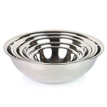 (Set of 6) SafePro Mixing Bowls Standard Weight Stainless Steel, Mirror Finish, 3/4, 11/2, 3, 4, 5, and 8 Qt - Walmart.com