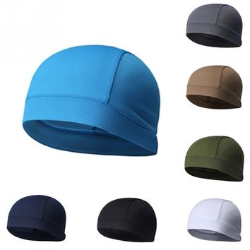 1pc Adults Women's Men's Unisex Hat Covers Durable Cap Skullcap Outdoor Solid Riding Running Sunscreen Hat Breathable