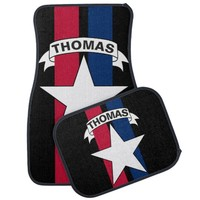 American Star Race Stripes Personalized Car Mat
