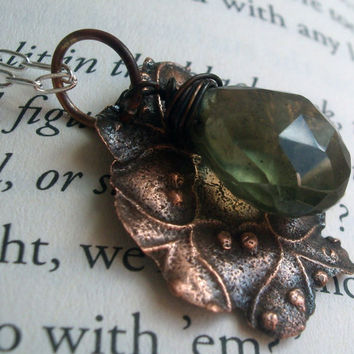 Artifact Aquamarine Necklace by torchandhammer on Etsy